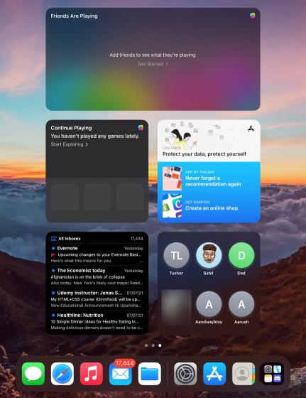 Как добавить и использовать виджеты на iPad