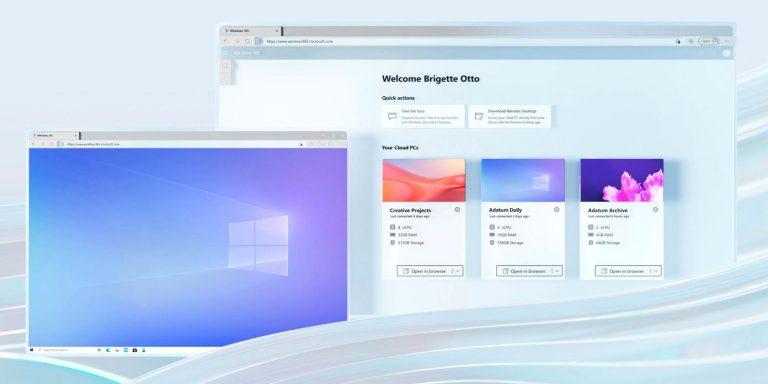 Microsoft наконец-то анонсирует облачный ПК с Windows 365