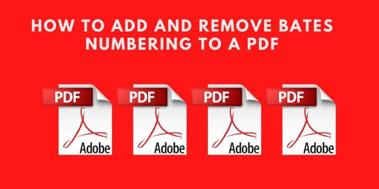 Как добавить и удалить нумерацию Бейтса в PDF
