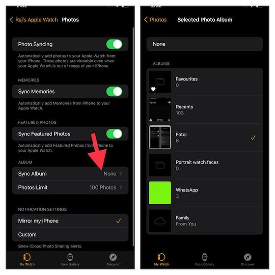 Как делиться фотографиями с помощью сообщений и почты на Apple Watch