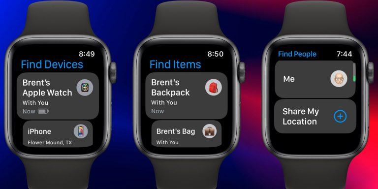 Как использовать приложения «Поиск устройств», «Поиск элементов» и «Поиск людей» на Apple Watch