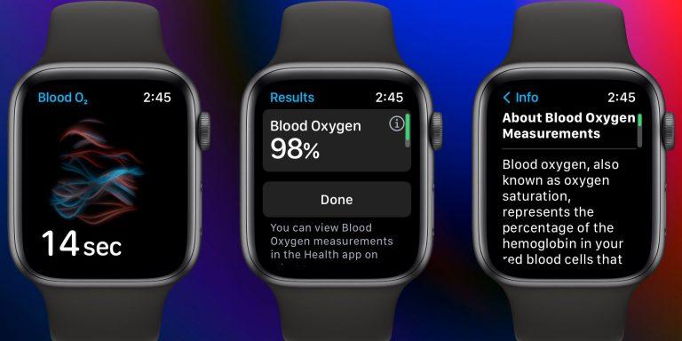 Как измерить кислород в крови на Apple Watch