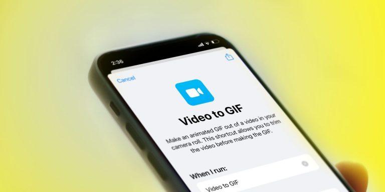 Как сделать GIF из видео на iPhone с помощью ярлыков