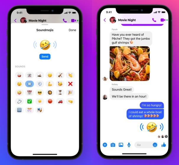 Как отправить саундмоджи в Facebook Messenger