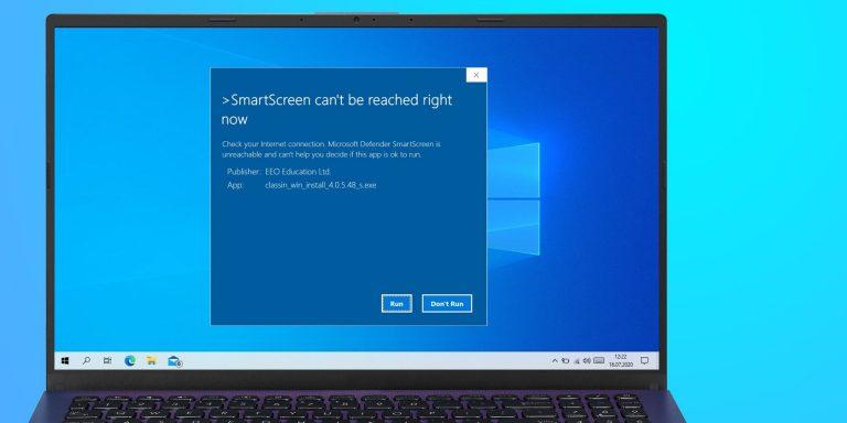 Как устранить ошибку SmartScreen, которая недоступна прямо сейчас