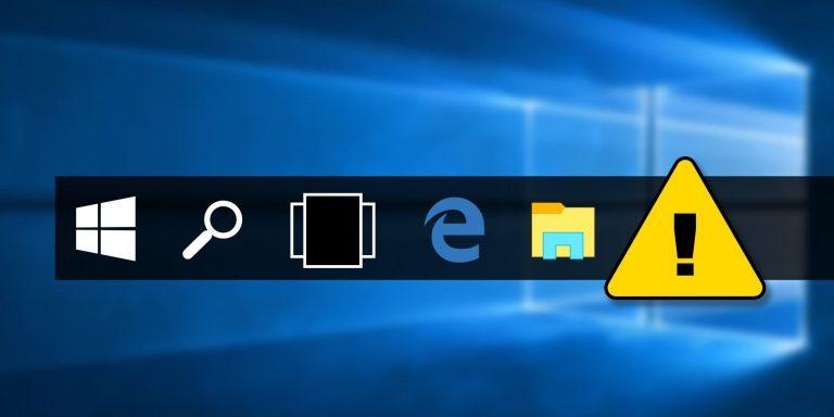 Как исправить Windows 10, не отображающую значки приложений на панели задач