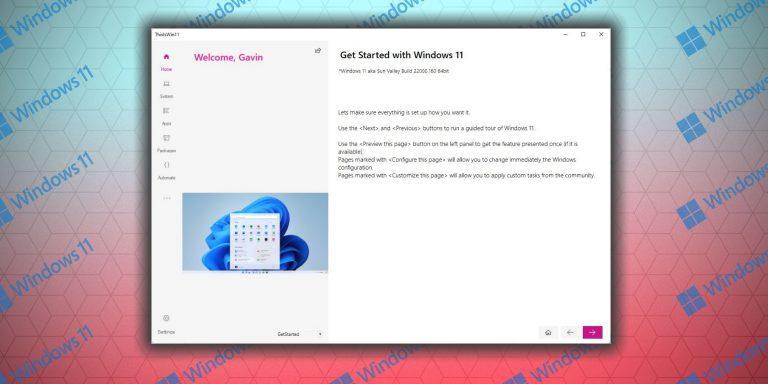 Как настроить Windows 11 с помощью ThisIsWin11