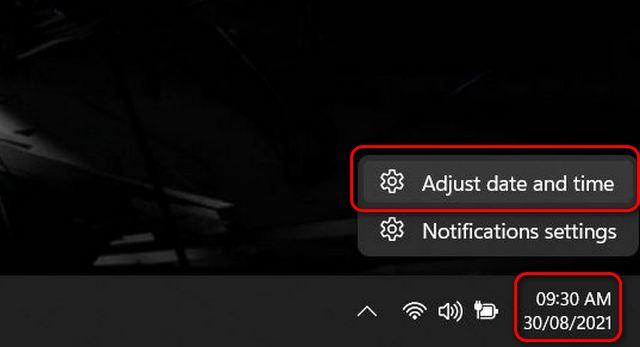 Как изменить дату и время в Windows 11