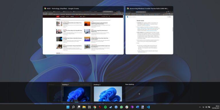 Как создать виртуальные рабочие столы в Windows 11